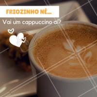 Friozinho bom para tomar um cappuccino! #cappuccino #café #ahazoucafe #cafeteria #frio