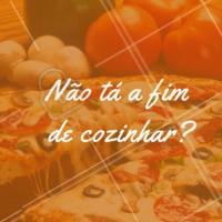 Não tenha trabalho e ainda coma algo saboroso e diferente. Faça seu pedido ☎️ XXXXXX #pizza #ahazouapp #delivery