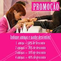 Promoção incrível para você que indicar uma amiga! Corre e não perca essa promoção 💃 #ahazou #promocao #indiqueumaamiga