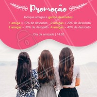 Não perca essa promoção, traga a sua amiga para o salão! 😉 #cabelo #hair #ahazou #diadaamizade #promocao