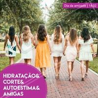 No dia da amizade, venha celebrar as melhores coisas do mundo com a gente! 💇❤️️ #cabeleireiro #ahazou #cabelo #diadaamizade