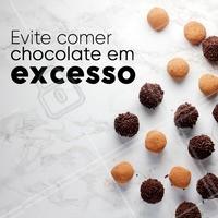 Chocolate é muito bom, mas em excesso pode ser prejudicial a sua saúde! #ahazou #dicas #chocolate