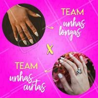 E aí, de qual time você é? Comenta aqui 👇 pra gente saber! #manicure #ahazou #unhas
