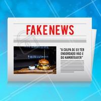 Como assim? Isso é fake news! 😂 #hamburguer #ahazou #engracado #fakenews