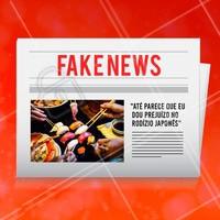 Como assim? Isso é fake news! 😂 #japa #comidajaponesa #ahazou #engracado #fakenews