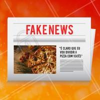 Como assim? Isso é fake news! 😂 #pizza #ahazou #engracado #fakenews