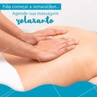Aproveite para agendar a sua massagem da semana e venha relaxar! #massagem  #ahazou #massagemrelaxante #bemestar