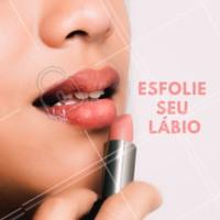 Esfolie sempre seus lábios, você sentirá muita diferença na hora de passar aquele batom! #labios #batom #ahazou #maquiagem #dicas #esteticafacial