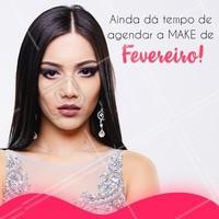 Aproveite e agende o seu horário agora mesmo! #maquiagem #makeup #ahazou #beleza #fevereiro