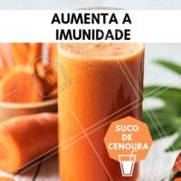 Você sabia que o suco de cenoura aumenta a imunidade? #saude #ahazou #ahazousaude #bemestar #suco #sucodecenoura
