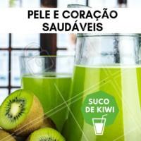 Você sabia que o suco de kiwi deixa a pele e o coração mais saudáveis? #saude #ahazou #ahazousaude #bemestar #suco #sucodekiwi