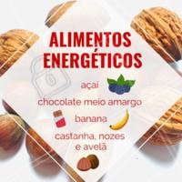 Para ter mais energia no dia-a-dia, inclua estes alimentos em sua dieta ⚡ #saude #bemestar #ahazou #frutas #alimentacao