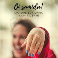 Oi sumida! Venha fazer sua unha com a gente 😁 #unhas #manicure #ahazou #convite
