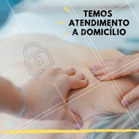 Nós também temos atendimento a domicílio 😉 #massagem #ahazou #atendimentoadomicilio #domicilio