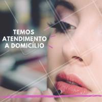 Nós também temos atendimento a domicílio 😉 #maquiagem #make #ahazou #atendimentoadomicilio #domicilio