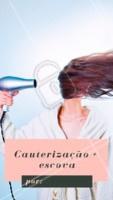 Aproveite o precinho especial e agende agora mesmo o seu horário! ✨ #cauterizacao #ahazou #cabelo #promocao