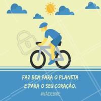 Vá de bike sempre que puder escolher seu meio de transporte. 🚵 #vadebike #bicicleta #saude #ahazousaude #atividadefisica