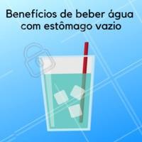 Os benefícios de beber água com o estômago vazio são: - Hidrata o organismo - Reduz a temperatura corporal - Reduz a acidez estomacal - Oxigena o sangue - Hidrata nossos órgãos vitais #agua #beneficios #ahazou #saude #bemestar #dicas