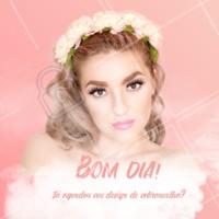Bom dia para nós! 🌸 #bomdia #ahazou #beleza #sobrancelha #designdesobrancelha
