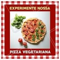Quem disse que pizza veggie não é uma delicia? Experimente e apaixone-se! #pizza #ahazou #pizzaria #alimentaçao #comida
