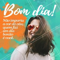 Que seja um dia lindo! 🙏 #bomdia #ahazoucabelo #cabelo #beleza #salaodebeleza