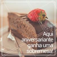 Aniversário chegando? Aproveite e comemore aqui! Comida deliciosa e sobremesa de presente pelo seu dia 🎉 #aniversario #restaurante #ahazoualimentaçao #comida #sobremesa #doce #bar