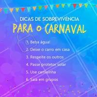 Que tal essas dicas pra sobreviver no Carnaval? 😉 #carnaval #ahazou