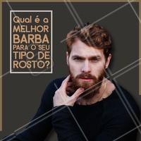 Rostos quadrados: pedem uma barba mais cheia no queixo e curta nas laterais. Rostos retangulares: pede um preenchimento nas laterais e um comprimento mais reto e curto.  Rostos redondos: pede destaque na lateral do rosto, barba bem modelada e linhas mais retas.  Não sabe qual seu tipo de rosto e qual é a melhor barba? Deixa com nossa equipe que a gente entende! #barbearia #ahazoubarbearia #barba