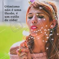 Um bom dia bem otimista para todos nós!  #otimismo #bomdia #ahazou #boraviver #maisumdia