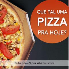 Já pediu sua pizza de hoje? Aproveite! #pizzaria #ahazou #pizza #alimentaçao #comida