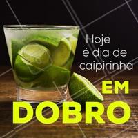 Você não pode perder o nosso dia de caipirinha em dobro até as XXh. Junte a galera e vem pra cá! #bar #bares #ahazou #caipirinha #promocao