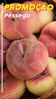 Aproveite a promoção especial dos pêssegos! Hmmm 🍑 #pessego #ahazou #promoção #feira #fruta #frutaria