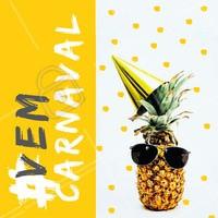 Tá todo mundo pronto pro carnaval aí?  😎😎😎 #carnaval #ahazou #vemcarnaval