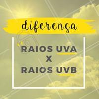 Você sabe a diferença entre raios UVA e UVB?? Olha aí  👇👇👇 A diferença entre eles é que o A penetra profundamente na pele enquanto o B atinge apenas a camada mais superficial, e apesar de merecerem cuidados, também tem papel importante na saúde.  UVA: Mais intensa antes das 10h e após às 16h UVB: Mais intensa antes entre às 10h e às 16h  #sol #raios #ahazou #verao