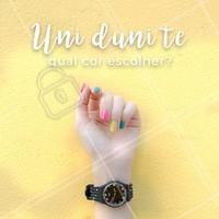 Os esmaltes coloridos estão em alta, já escolheu sua cor favorita? #unhas #esmalte #ahazou  #manicure