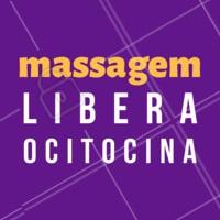 A massagem é uma das melhores maneiras de libertar ocitocina no corpo proporcionando o combate da tensão muscular, auxilia no fluxo intestinal, estabiliza a pressão arterial e diminui estresse diário #ocitocina #massagem #ahazou #beneficios