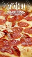 A Sexta chegou e bateu aquela vontade de pizza? 🍕❤️️🍕 Peça já a sua! #pizza #comida #ahazou #pizzaria #alimentaçao #sexta