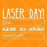 Não perca o nosso Laser Day! Agende já o seu horário pelo WhatsApp XXXX #depilacao #laser #ahazou #depilacaoalaser #laserday