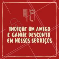 Traga um amigo para ganhar um desconto especial em nossos serviços! #barbearia #barber #ahazou #cabelomasculino #promocao