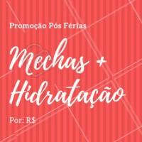 Não perca essa promoção e venha cuidar das madeixas! #cabelos #hair #ahazoucabelo #promocao #posferias