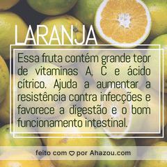 Fique de olho nos benefícios dessa fruta! 🍊 #laranja #frutas #beneficios #ahazou #saude #bemestar