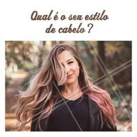 Conta pra gente! #cabelos #hair #ahazou #estilo