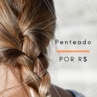 Nós também fazemos penteado. agende já o seu! #cebelo #ahazou #penteado