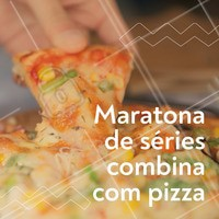 Aquele momento em que a mente relaxa e a fome se acalma! #pizza #ahazougastronomia #maratonadeseries