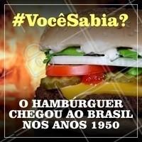 O que trouxe o hambúrguer ao nosso país foram as lanchonetes e fizeram muito sucesso! #hamburgueria #ahazoutaste #hamburguer