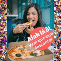 É carnaval, é folia, e a fome não fica de fora! Liga pra gente! #pizza #desconto #promocao #ahazou #delivery