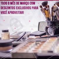 O mês de março chegou! Preparamos ofertas especiais para você ficar ainda mais linda nesse mês. 💜 #mesdemarco #promocoesexclusivas #ahazou #make