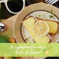 Já experimentou nosso bolo de limão? Se não, deveria! 💚 É o mais elogiado pelos nossos clientes #bolo #cafe #ahazou #bolodelimao #limao