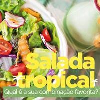 """""""É novidade, é refrescante, é a nossa salada tropical. Experimente! #saudavel #ahazou #ahazougastronomia #verao #tropical"""""""