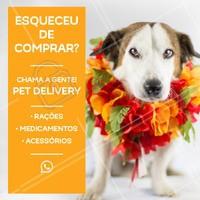Não se preocupe! Através do nosso pet delivery, levamos tudo o que o seu pet necessita até você! 😻 Entre em contato conosco! #petdelivery #petshop #pet #ahazoupet #animais